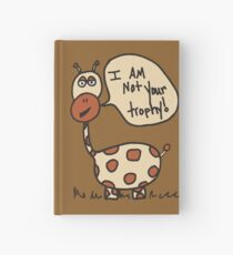 George the giraffe doodle Hardcover Journal