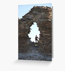 Fortress. Middle Gobi Mongolia Greeting Card