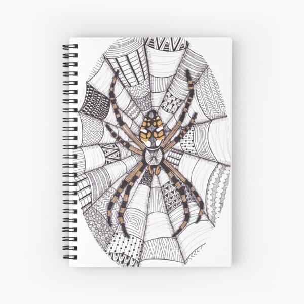 Golden Spider Spiral Notebook