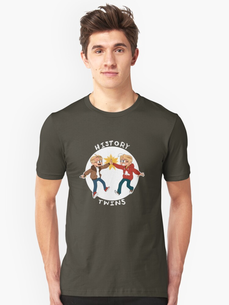 Canada and America History Twins Unisex T-Shirt Front