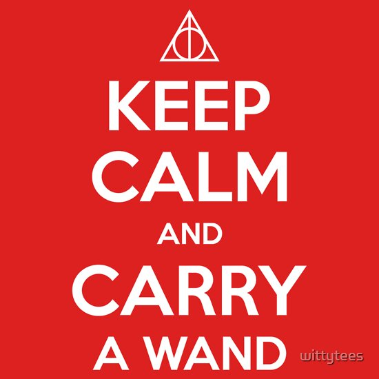 TShirtGifter presents: Keep Calm and Carry a Wand T-Shirt