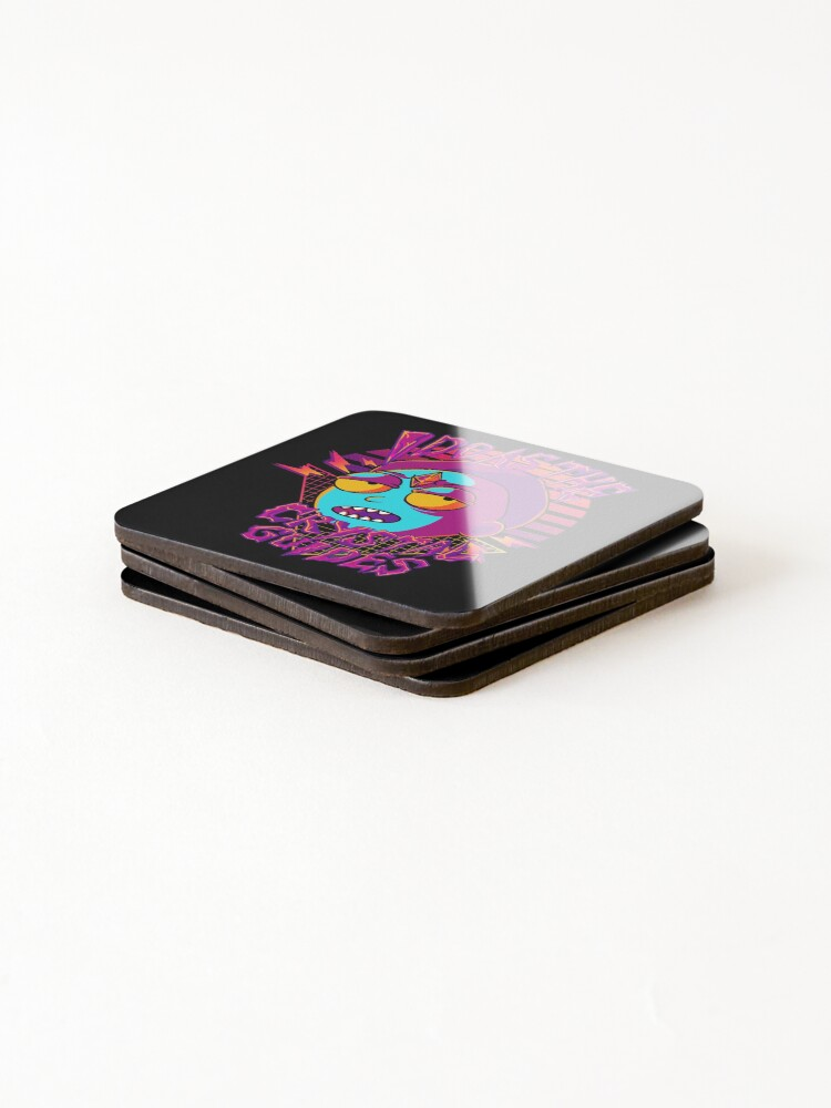 Alternate view of I Do As The Crystal Guides  Rick and Morty  Coasters (Set of 4)