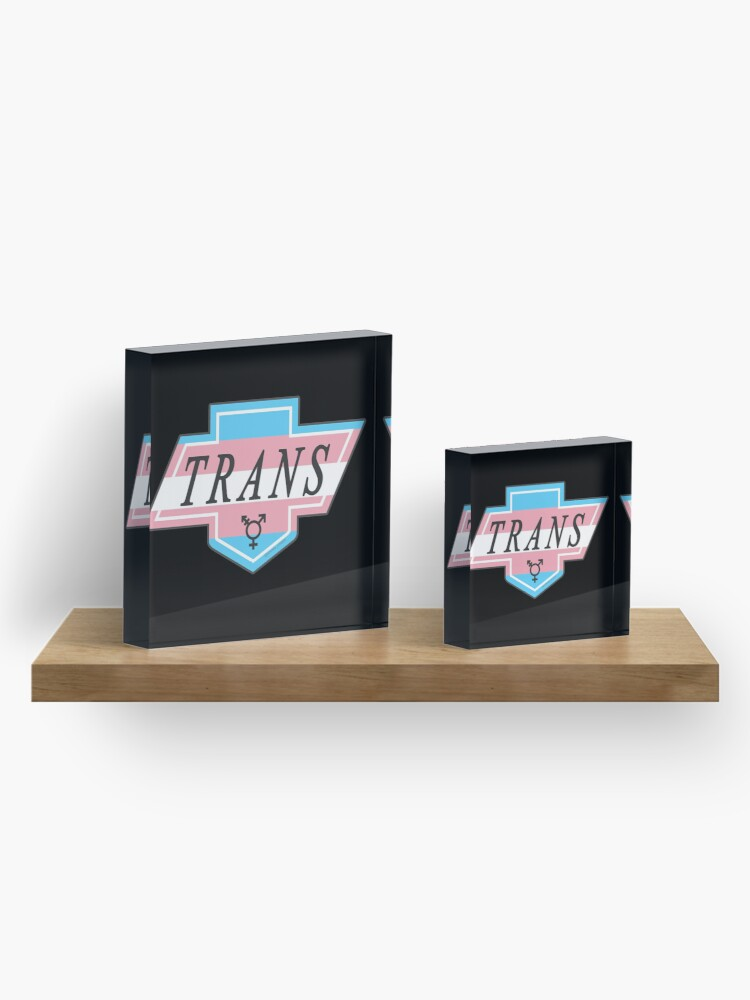 Alternate view of Identity Badge: Transgender Acrylic Block