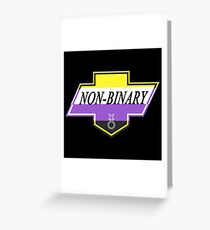 Identity Badge: Non Binary Greeting Card