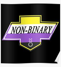 Identity Badge: Non Binary Poster