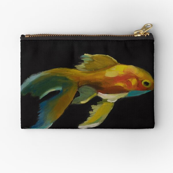 Fishing for Gold Zipper Pouch