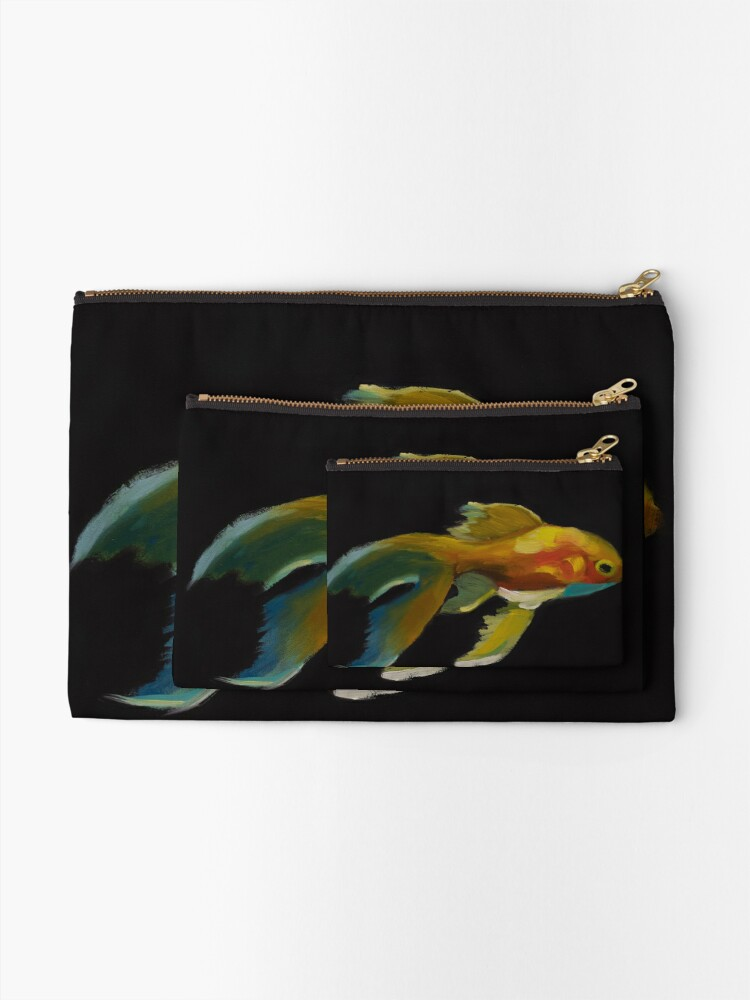 Alternate view of Fishing for Gold Zipper Pouch