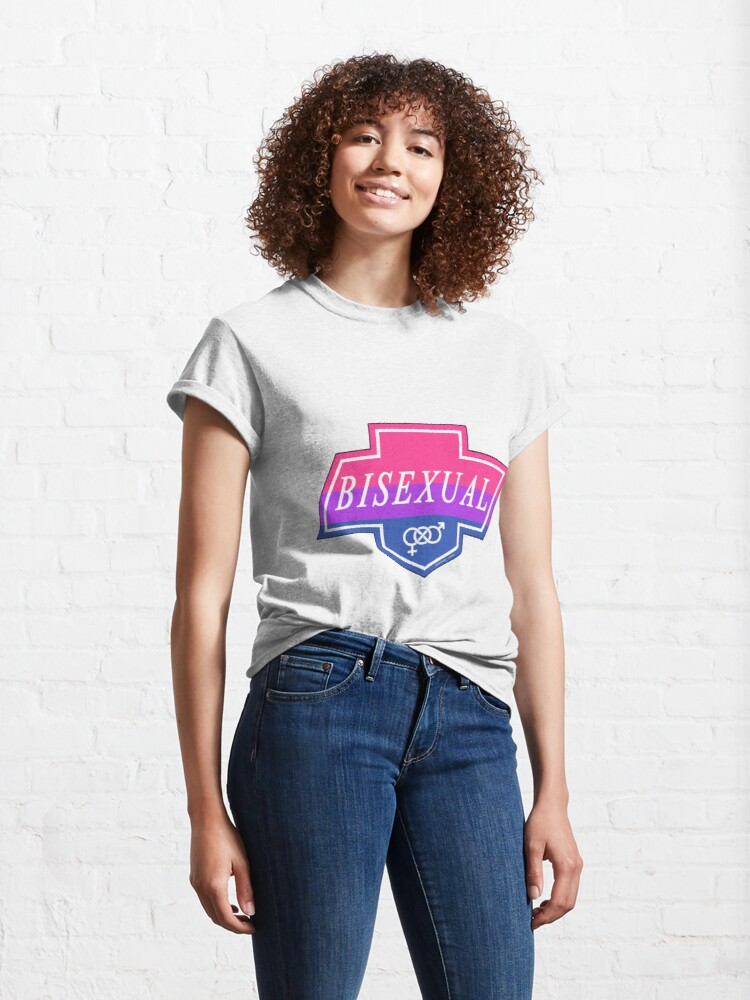 Alternate view of Identity Badge: Bisexual Classic T-Shirt
