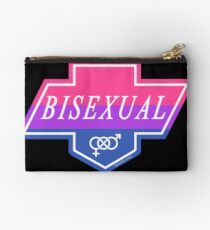 Identity Badge: Bisexual Zipper Pouch