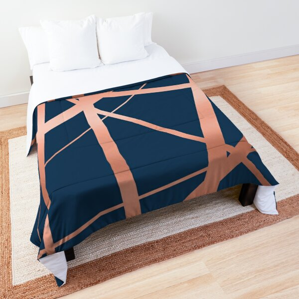 Navy and Copper Luxe Comforter