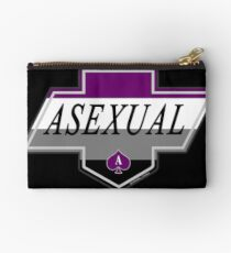 Identity Badge: Asexual Zipper Pouch