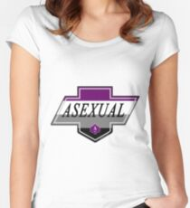 Identity Badge: Asexual Fitted Scoop T-Shirt