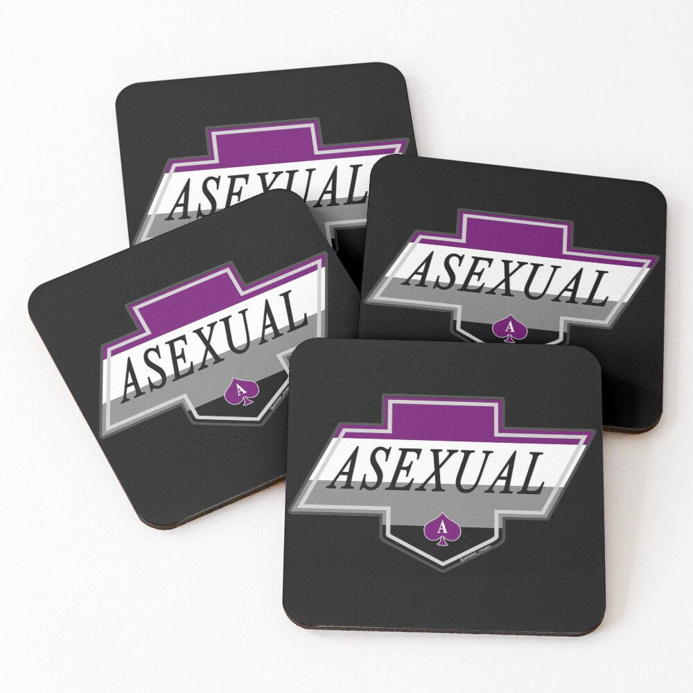Identity Badge: Asexual Coasters (Set of 4)