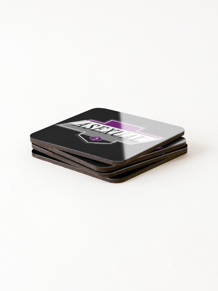 Alternate view of Identity Badge: Asexual Coasters (Set of 4)