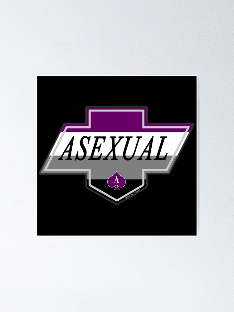 Alternate view of Identity Badge: Asexual Poster