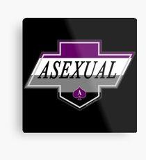 Identity Badge: Asexual Metal Print
