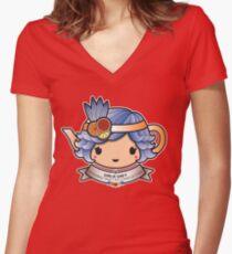 Girlie Grey Teapot Women's Fitted V-Neck T-Shirt