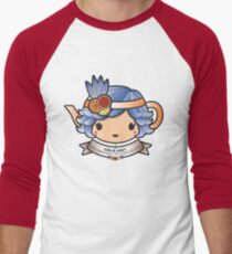 Girlie Grey Teapot Men's Baseball ¾ T-Shirt