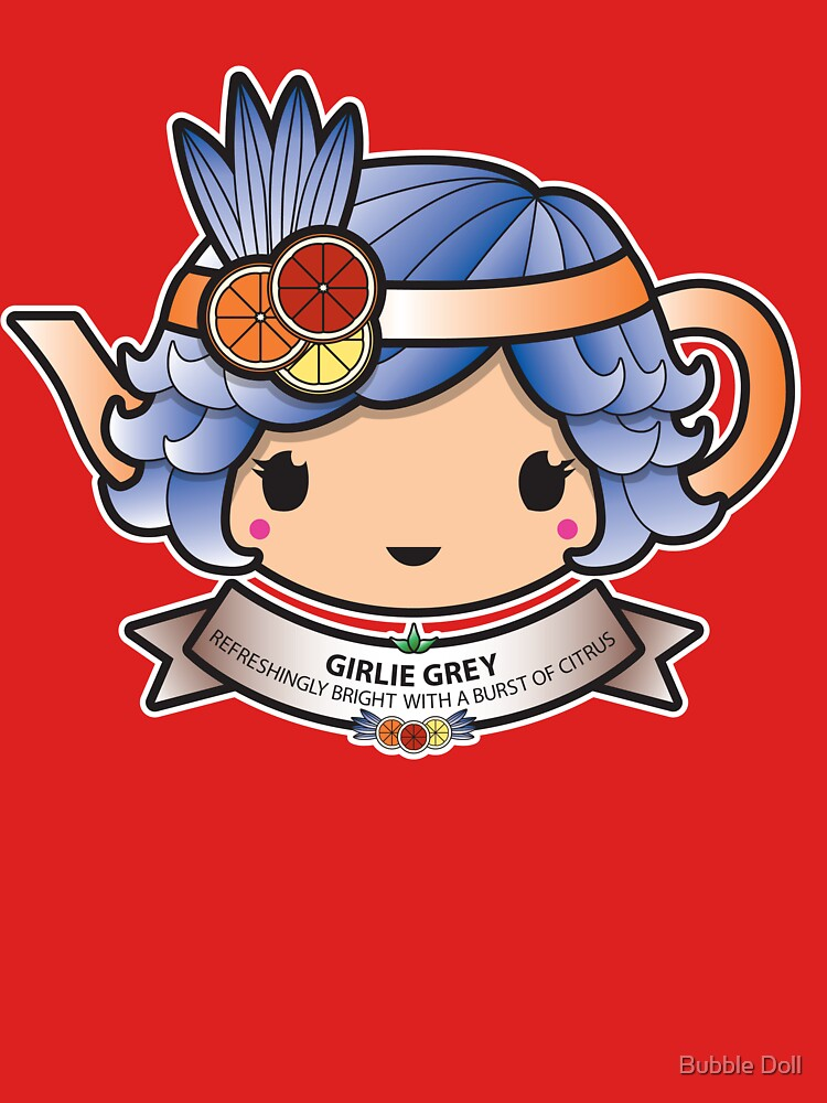 Girlie Grey Teapot by BubbleDoll