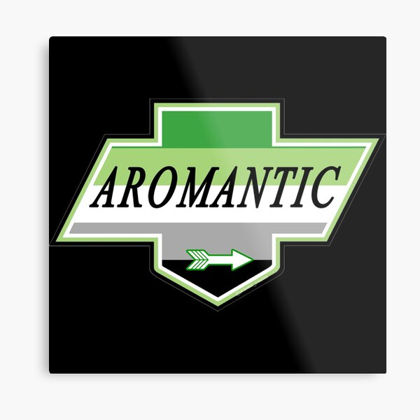 Identity Badge: Aromantic Metal Print