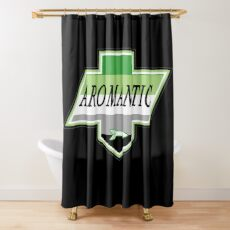 Identity Badge: Aromantic Shower Curtain
