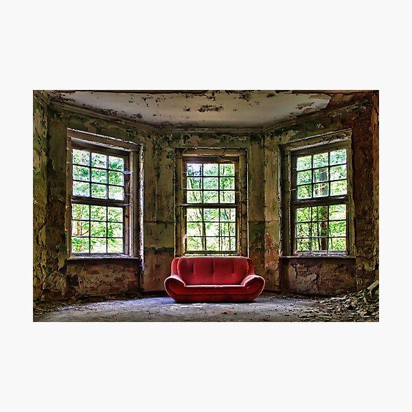 Red Sofa Photographic Print