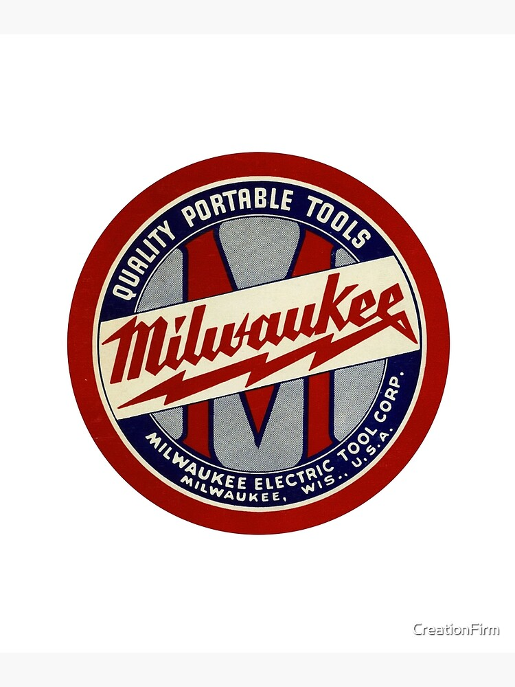Copy of Milwaukee Heavy Duty Tools T-shirt Sticker by CreationFirm
