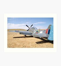 Warplane. Art Print