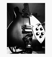 Guitar in mono Photographic Print