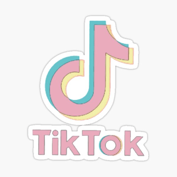 Tik Logo Stickers Redbubble