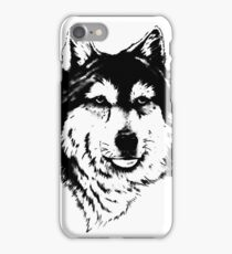 Timber wolf (Canis lupus lycaon) Sub-species of (Canis lupus) iPhone Case/Skin