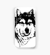 Timber wolf (Canis lupus lycaon) Sub-species of (Canis lupus) Samsung Galaxy Case/Skin