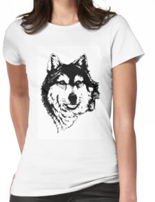 Timber wolf (Canis lupus lycaon) Sub-species of (Canis lupus) Womens Fitted T-Shirt