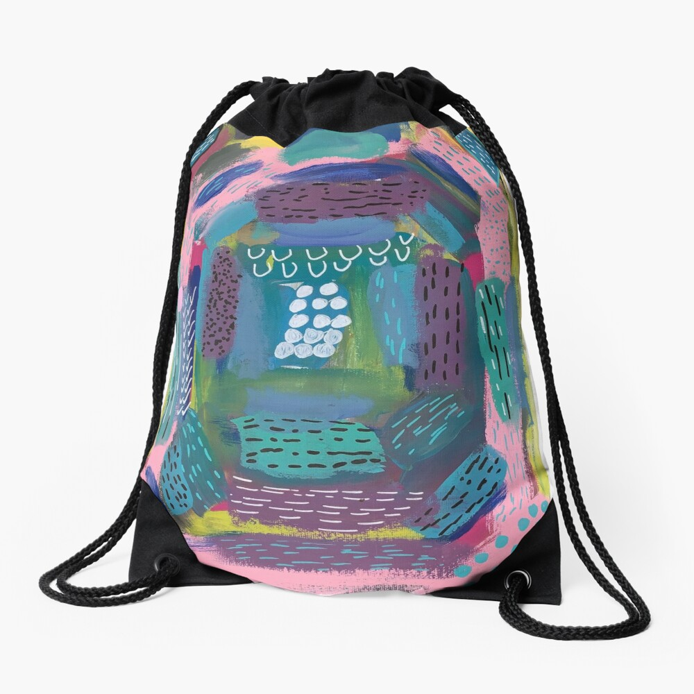 The Impression of the Electric Element  Drawstring Bag