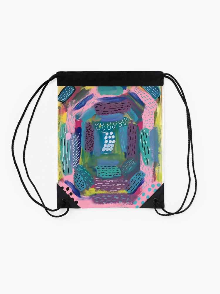 Alternate view of The Impression of the Electric Element  Drawstring Bag