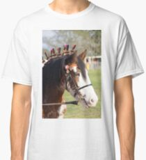 Draft horse decorated Classic T-Shirt