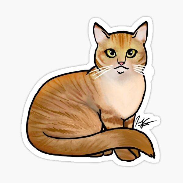 Seated Orange Tabby Cat Sticker