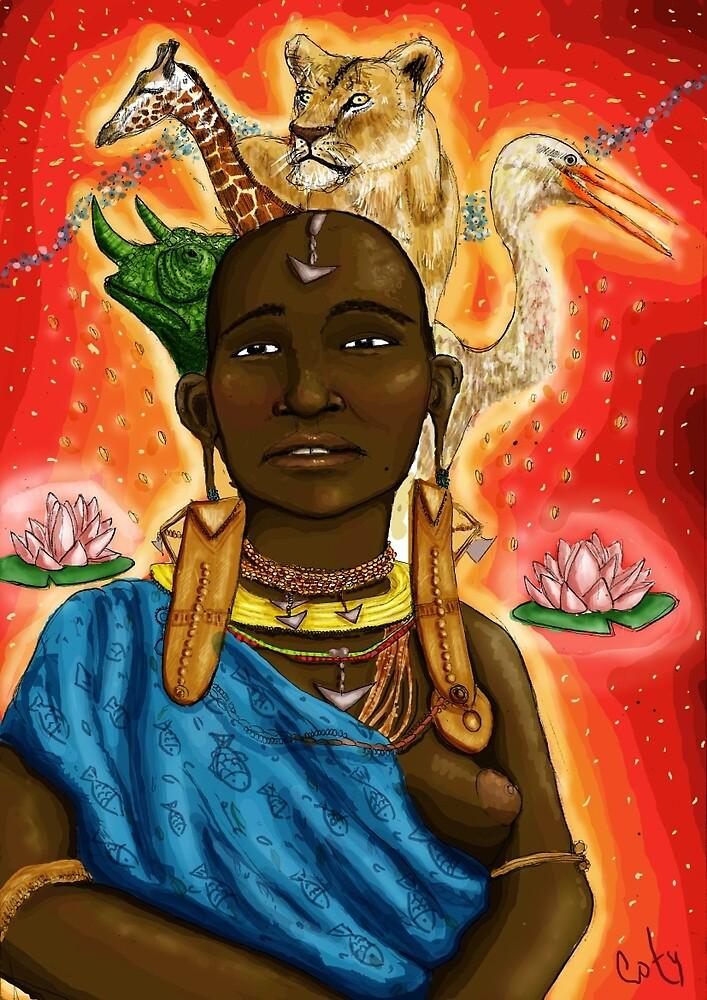 african woman by cotyarnau