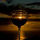 Sunset wine II by Bente Agerup