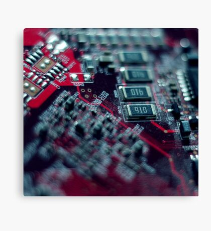 Make a Circuit With Me Canvas Print