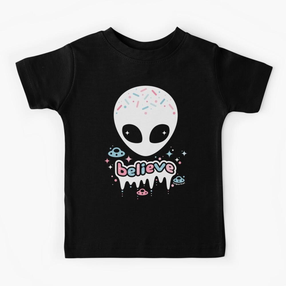 Space Grunge Believe in Aliens Kids T-Shirt