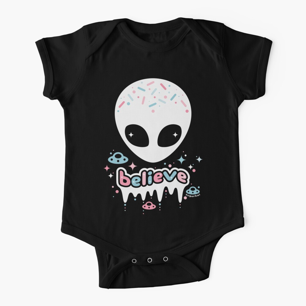 Space Grunge Believe in Aliens Baby One-Piece