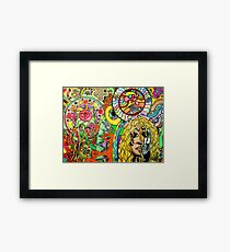 cosmic puzzle of life and death Framed Print