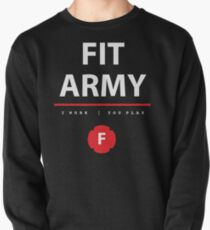 Fit Army Tank in Black/White/Red Pullover