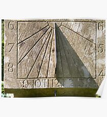 Sun Dial at Greenbank Gardens Poster
