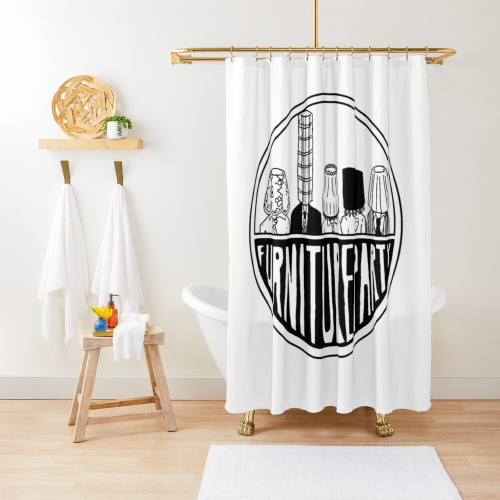 Furniture Party Band Logo Shower Curtain