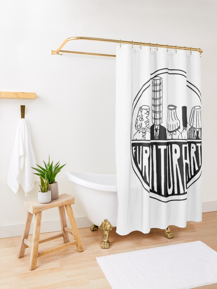Alternate view of Furniture Party Band Logo Shower Curtain