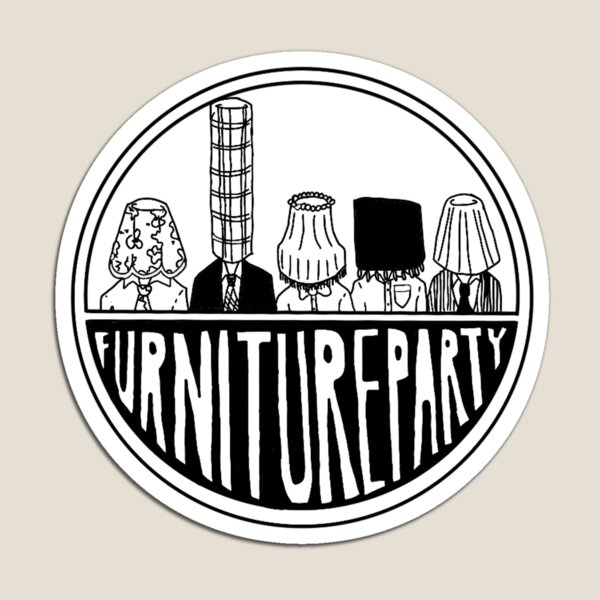 Furniture Party Band Logo Magnet
