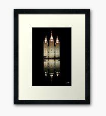 Salt Lake Temple Reflection 20x30 Framed Print