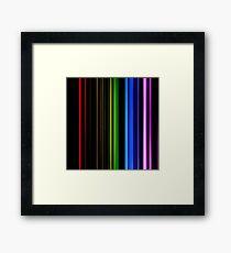 Vertical Rainbow Bars Framed Print